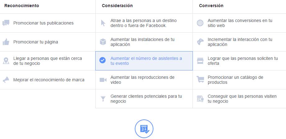 Anuncios FB - Paso 1