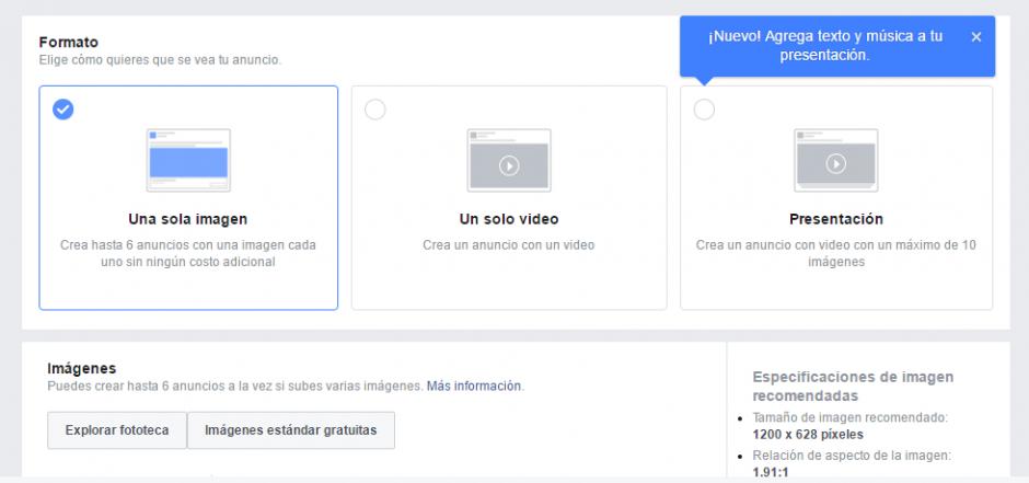 Anuncios - FB - Paso 3