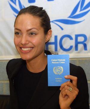 Angelina Jolie es embajadora de Naciones Unidas para los Refugiados