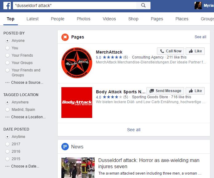 """Resultados para la búsqueda """"Dusseldorf attack""""."""