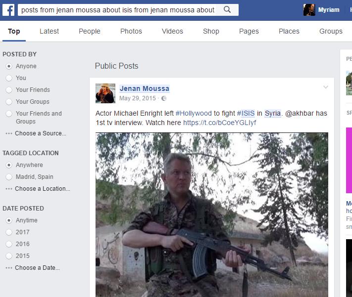 Posts de Jenan Moussa sobre ISIS y Siria.
