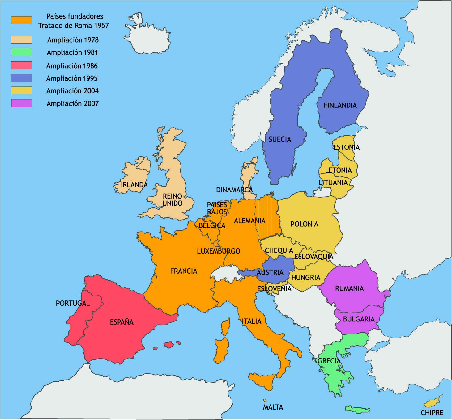 EUROPA - Pases Unin Europea